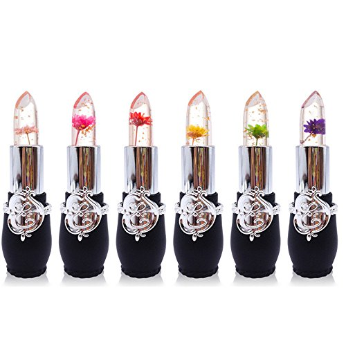 6pcs set lippenstift set crystal jelly blume lippenstift temperatur ndern farbe lippenstift. Black Bedroom Furniture Sets. Home Design Ideas