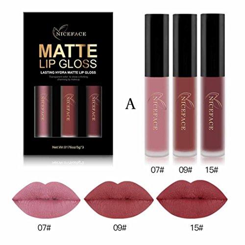 lippenstift matt huihui 3pcs liquid lipstick set. Black Bedroom Furniture Sets. Home Design Ideas