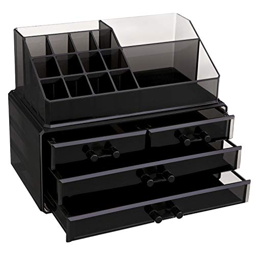 3x Organizer Box Ordnungssystem Aufbewahrung Schublade Aufbewahrung Korb Bad